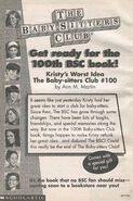 100th BSC book Kristys Worst Idea bookad from 99 1stpr