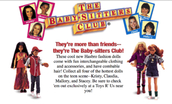 1998 Kenner dolls on BSC Scholastic Web Site