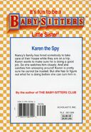 Baby-sitters Little Sister 111 Karens Spy Mystery back cover