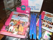 1997 Fan Club items - diary camera pencils shipper photo album
