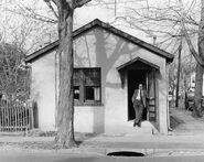 Henry Martin 1982 at studio in Princeton corner of Williams and Charlton