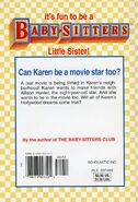 Baby-sitters Little Sister 103 Karens Movie Star back cover