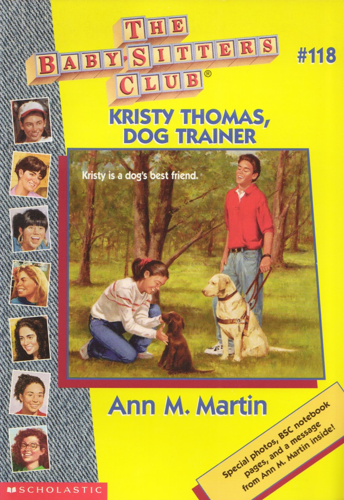 kristy thomas dog trainer the baby sitters club wiki fandom