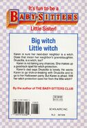 Baby-sitters Little Sister 22 Karens Little Witch back cover
