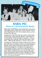Super Trivia Contest Winner Sara Pic Fan Club Newsletter 32-34 1990