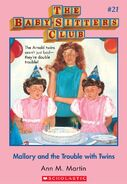 Baby-Sitters Club 21 Mallory and the Trouble with Twins cover