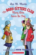 Mary Anne Saves the Day graphic novel bw cover