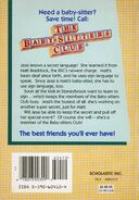 Baby-sitters Club 16 Jessis Secret Language reprint back cover