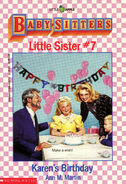 Baby-sitters Little Sister 7 Karens Birthday cover