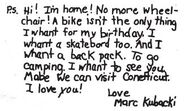 Marc Kubacki letter to Stacey SS1