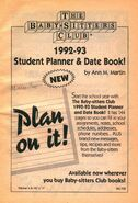 1992-3 student planner date book bookad from 57 orig 1stpr 1992