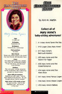 BSC 52 Mary Anne bookmark front and back