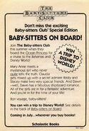 Super Special 1 Baby-sitters on Board bookad from 14 orig 1stpr 1988