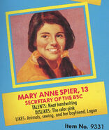 Mary Anne 1991 portrait and bio from Remco doll box