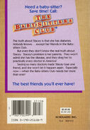Baby-sitters Club 3 The Truth about Stacey reprint back cover