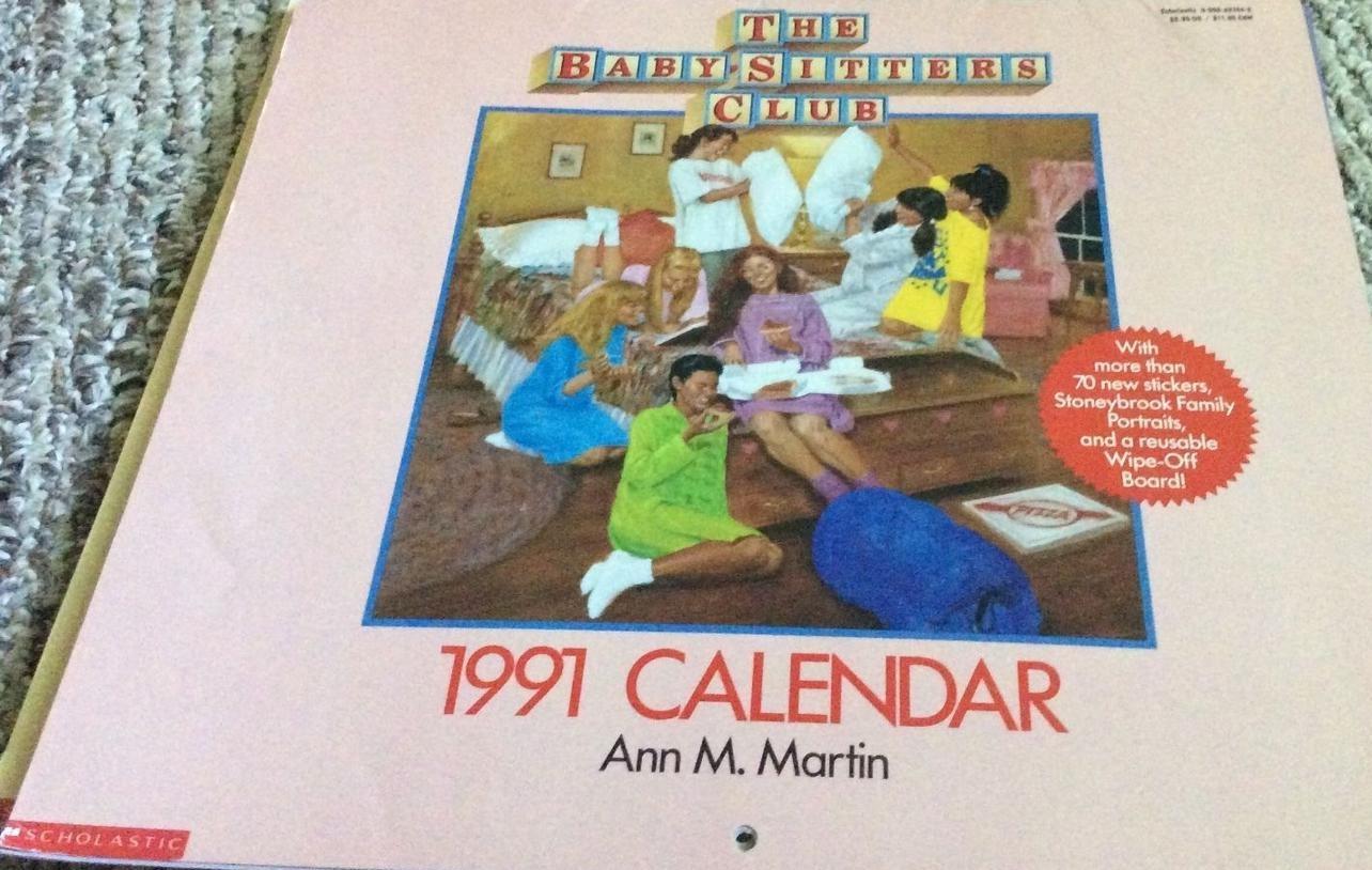 1991 Bsc Calendar The Baby Sitters Club Wiki Fandom Powered By Wikia