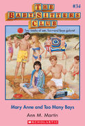 Baby-Sitters Club 34 Mary Anne and Too Many Boys cover