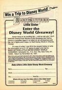 Little Sister Disney World Giveaway bookad from BLS 21 1stpr 1991