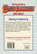 Baby-sitters Little Sister 89 Karens Unicorn back cover