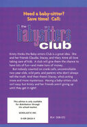 Baby-sitters Club 01 Kristys Great Idea 2001 reprint back cover