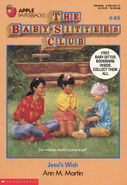 Baby-sitters Club 48 Jessis Wish original cover 1stprint