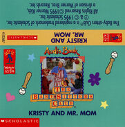 Baby-sitters Club 81 Kristy and Mr Mom audio tape J-card front