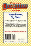 Baby-sitters Little Sister 6 Karens Little Sister back cover