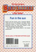Baby-sitters Little Sister 71 Karens Island Adventure back cover