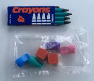 BSC Mystery Game Crayons 4 pawns 2 Dice 4 plastic buttons
