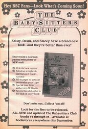 Baby-sitters Club series new look bookad from 89 1995