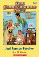 Baby-Sitters Club 22 Jessi Ramsey Pet-sitter cover