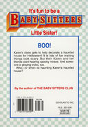 Baby-sitters Little Sister 90 Karens Haunted House back cover