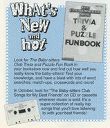 Trivia and Puzzle Fun Book ad from Fan Club fall 1992 newsletter