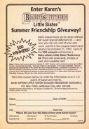 Little Sister Summer Friendship Giveaway bookad from BLS 42 1stpr 1993