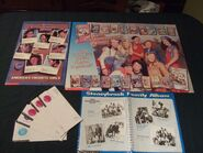 1997 Fan club poster newsletters with family album