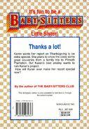 Baby-sitters Little Sister 91 Karens Pilgrim back cover
