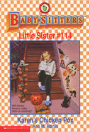 Baby-sitters Little Sister 114 Karens Chicken Pox front cover