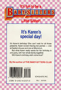 Baby-sitters Little Sister 7 Karens Birthday back cover