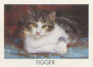 Tigger from 1990 calendar stickers