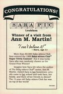 1989 Super Trivia contest winner Sara bookad from 36 orig 1990