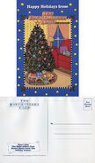 BSC SS12 Christmas postcard front and back