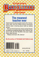Baby-sitters Little Sister 21 Karens New Teacher back cover