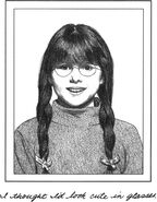 Mary Anne fourth grade with glasses MAB
