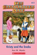 Baby-sitters Club 11 Kristy and the Snobs cover stock image