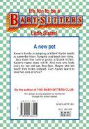 Baby-sitters Little Sister 102 Karens Black Cat back cover