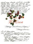 Secret Santa confetti with Mary Annes letter to Logan