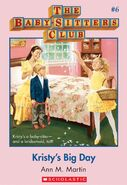 Baby-sitters Club 6 Kristys Big Day cover stock image