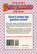 Baby-sitters Little Sister 10 Karens Grandmothers back cover