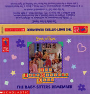 BSC SS11 Baby-sitters Remember audio tape J-card front