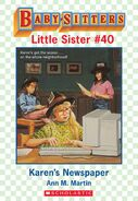 Baby-sitters Little Sister 40 Karens Newspaper ebook cover